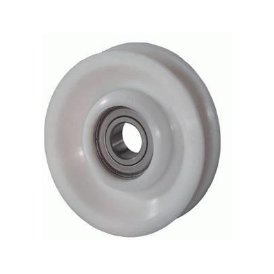 roue gorge ronde 8 mm de diam tre 65 mm en polyamide. Black Bedroom Furniture Sets. Home Design Ideas