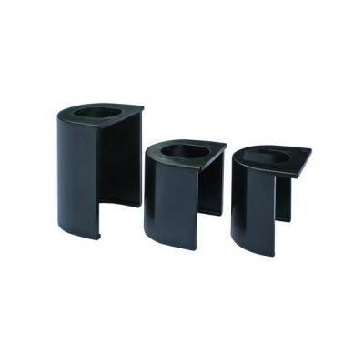 acier bichromat/ée lot de 4 Fiche plate r/églable3D D16x82 mm
