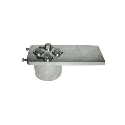 pivot haut en acier sur roulement billes pour portail lourd de diam tre 120mm. Black Bedroom Furniture Sets. Home Design Ideas