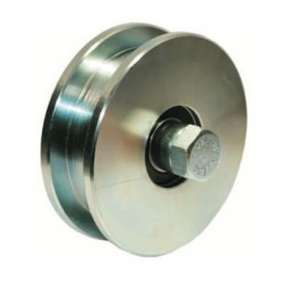 roue gorge carr e 20 mm de diam tre 160 mm en acier double roulement billes. Black Bedroom Furniture Sets. Home Design Ideas