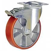 roulettes pivotantes avec frein caoutchouc jante plastique